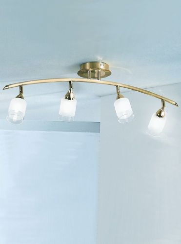 Franklite DP40014 Polished / Satin Brass Ceiling Light